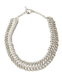 Slane | Metallic Interlocking S Link Necklace | Lyst