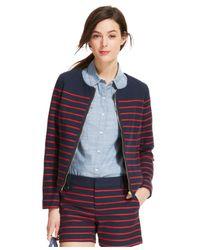 Tommy Hilfiger - Blue Basket-Weave Striped Jacket - Lyst