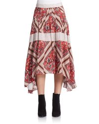 Free People | Pink Printed Paradise Skirt | Lyst