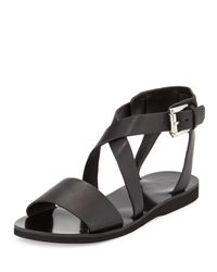 Marc Fisher - Black Danae Crisscross Leather Sandal - Lyst