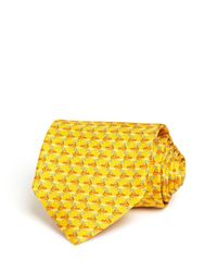 Ferragamo | Yellow Tugboats Classic Tie for Men | Lyst