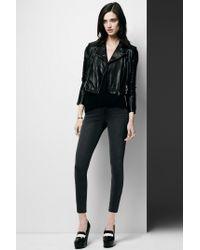 J Brand - Black Clark Leather Top - Lyst