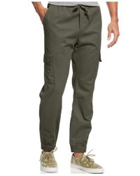 American Rag | Gray Men's Twill Cargo Joggers for Men | Lyst