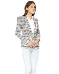 Rebecca Taylor - Blue Diamond Tweed Blazer Navy - Lyst