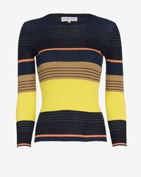 Apiece Apart - Black Striped Ribbed Knit - Lyst