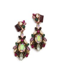 Erickson Beamon | Multicolor Cosmic Code Teardrop Earrings Pink Multi | Lyst