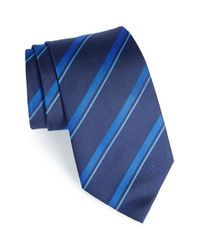 Burberry | Blue 'clinton' Stripe Silk Tie for Men | Lyst