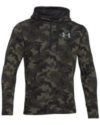 Under Armour - Gray Rival Printed Pullover Hoodie for Men - Lyst