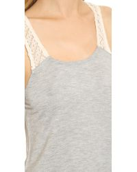 Ella Moss - Gray Harlow Tank Top - Heather Grey - Lyst