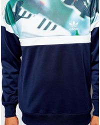 Adidas Originals | Green Sweatshirt With Chaos Print for Men | Lyst