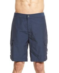 Victorinox | Blue Water Repellent Stretch Hybrid Cargo Shorts for Men | Lyst