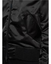 Acne Studios - Black 'encore Shine' Satin Bomber Jacket - Lyst