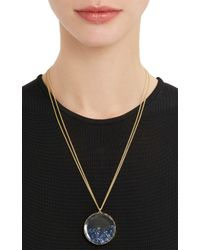"Renee Lewis - Blue Sapphire & Gold ""Shake"" Pendant Necklace - Lyst"