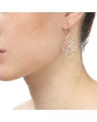 Monica Vinader - Pink Riva Diamond Cluster Drop Earrings - Lyst