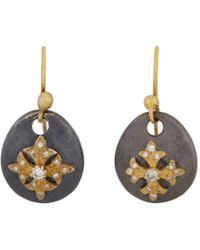 Sara Weinstock - Metallic Diamond and Gold Maltese Cross Sterling Silver Drop Earrings - Lyst