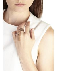 Eddie Borgo - Metallic Rose Gold Plated Tassle Ring - Lyst