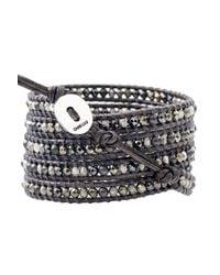 Chan Luu | Gray Mixed Pearl Wrap Bracelet | Lyst