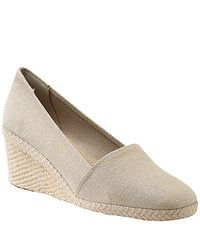 Andre Assous - Natural Canvas Espadrille Wedge - Lyst