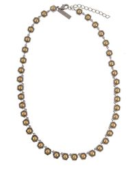 Rachel Zoe | Metallic Stone Collar Necklace | Lyst