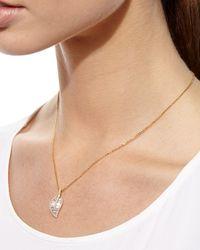 Anita Ko | Metallic 18k Gold Diamond Leaf Pendant Necklace | Lyst