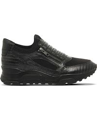 Ash | Black Miki Metallic Leather Trainers | Lyst