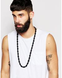 ASOS - Longline Chunky Chain Necklace In Black for Men - Lyst