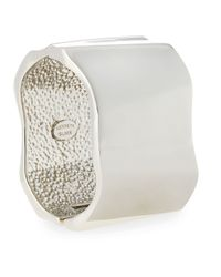 Kenneth Jay Lane - Metallic Rhodium-plated Geometric Wide Cuff - Lyst