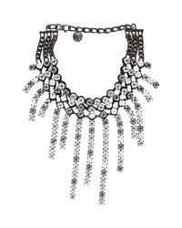 Lanvin - Black Kristin Bib Necklace - Lyst