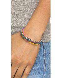 Shashi - Blue Jane Wrap Bracelet - Tan Multi - Lyst