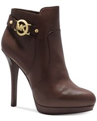 Michael Kors - Brown Michael Wyatt Platform Booties - Lyst