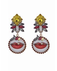 Erickson Beamon | Multicolor Say Cheese Earrings | Lyst