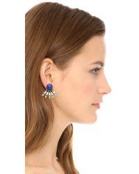 DANNIJO - Metallic Zev Earrings - Silver/crystal/royal Blue - Lyst
