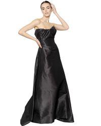 Vivienne Westwood   Black Silk Faille Bustier Long Dress   Lyst