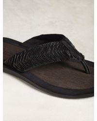 John Varvatos - Black Artisan Thong Sandal for Men - Lyst