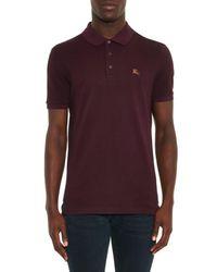 Burberry Brit - Purple Cassius Cotton-Piqué Polo Top for Men - Lyst