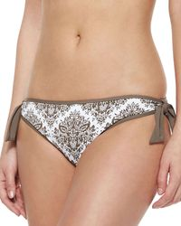Tommy Bahama - Gray Bow-front Reversible Floral-print Halter Swim Top - Lyst