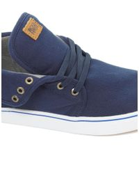 Beck & Hersey - Blue Midtop Trainers for Men - Lyst