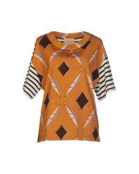 Erika Cavallini Semi Couture - Orange Sweatshirt - Lyst