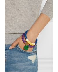 Marc By Marc Jacobs - Purple Set Of Two Braided Cord And Enamel Bracelets - Lyst