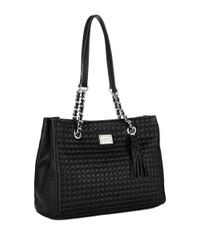Calvin Klein | Black Quilted Leather Tote | Lyst
