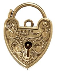 Annina Vogel | Metallic Vintage Gold Fancy Heart Padlock Charm | Lyst