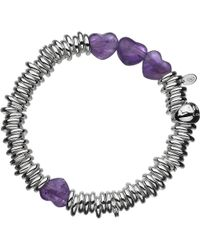 Links of London | Purple Sweetie Candy Hearts Sterling Silver Bracelet - For Women | Lyst