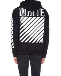 Off-White c/o Virgil Abloh - Black Printed Cotton Hoodie for Men - Lyst