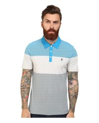 Original Penguin | Blue 3 Stripe Color Block Heritage Polo for Men | Lyst