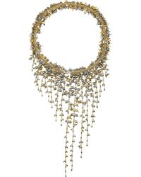 Rosantica | Metallic Ruscello Gold-Dipped Hematite Necklace | Lyst