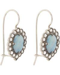 Cathy Waterman - Blue Diamond, Boulder Opal & Platinum Earrings - Lyst