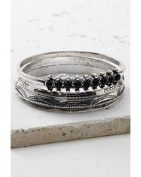 Forever 21 - Metallic Etched Faux Stone Bangle Set - Lyst