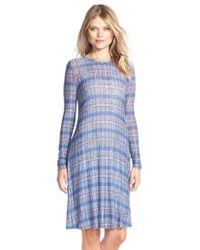 BCBGMAXAZRIA - Blue 'jeanna' Print Jersey A-line Dress - Lyst