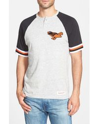 Mitchell & Ness - Gray 'Baltimore Orioles - Visiting' Raglan Henley for Men - Lyst