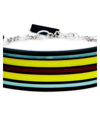 DKNY | Multicolor Inlayed Stripe Choker Necklace | Lyst